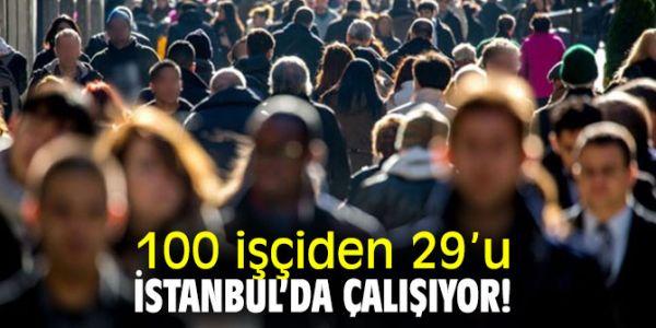 100 İşçiden 29' U İstanbul' da, Yüzde 22' Si Kayıt Dışı