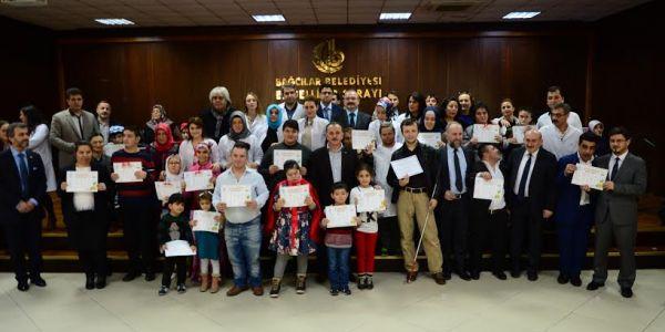 350 Engelli Öğrenci Karne Sevinci Yaşadı