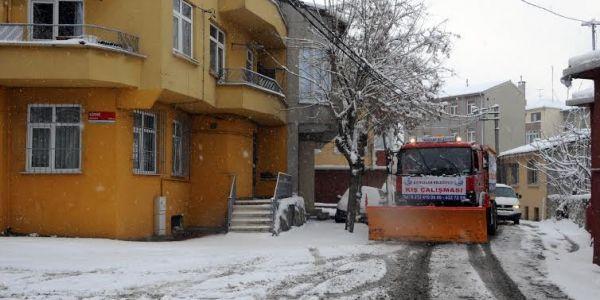 Bağcılar'da kar ve buzlanmaya karşı çözüm