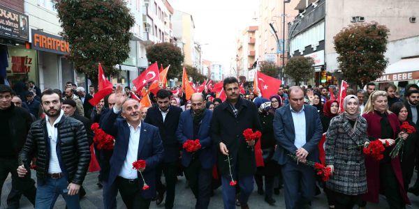 Başkan Çağırıcı'dan Coşkulu 'Sevgi Yürüyüşü'