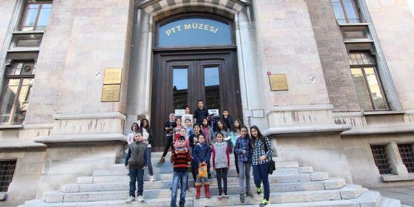 Bilgi evi öğrencileri ptt müzesi'ni ziyaret etti