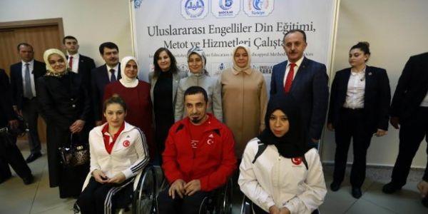 """Dr. Sare Davutoğlu; """"Engellilere yönelik çalışmalar erdemli hale geldi"""""""