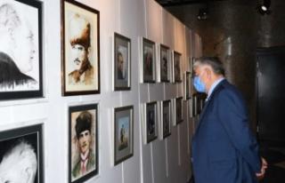 Atatürk Resimleri BKSM'de Sergileniyor