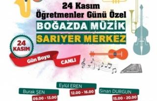 Sarıyer'de Öğretmenler Günü Müzikle Kutlanacak